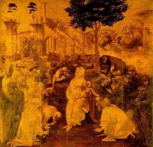 Леонардо. Поклонение Волхвов